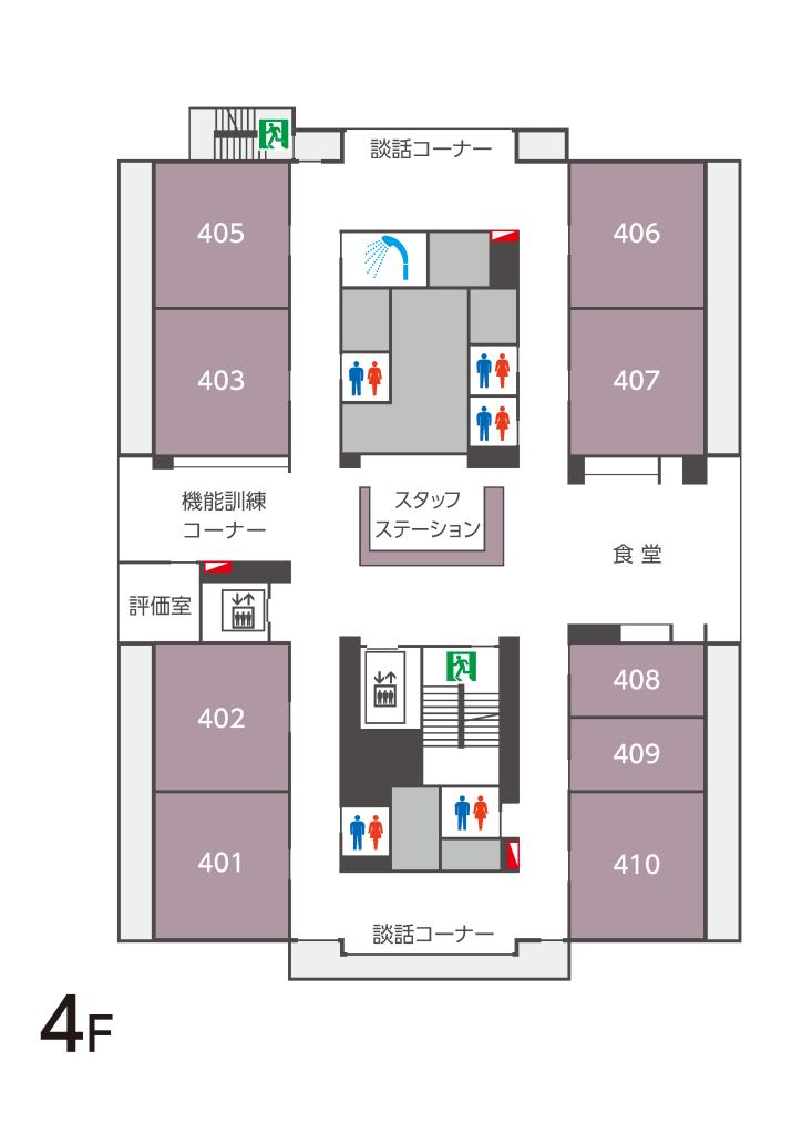 フロアマップ4F
